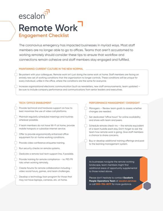 Remote working checklist