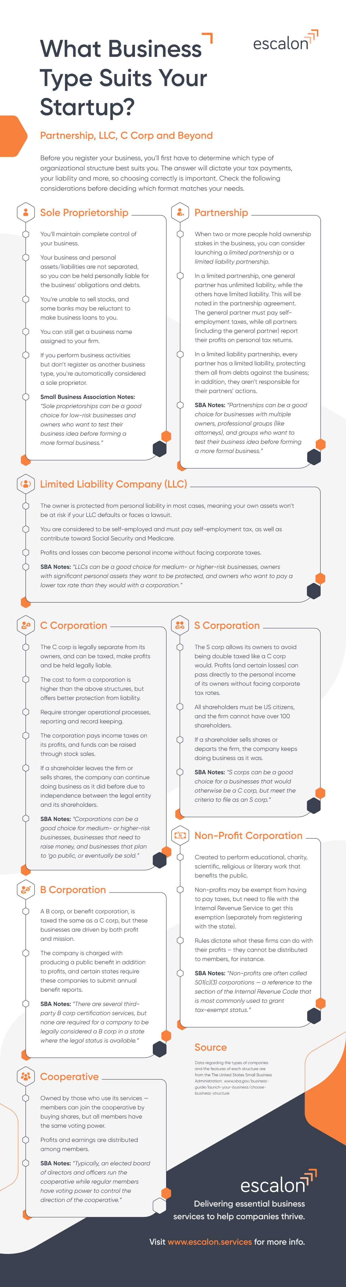 Business Type Infographic