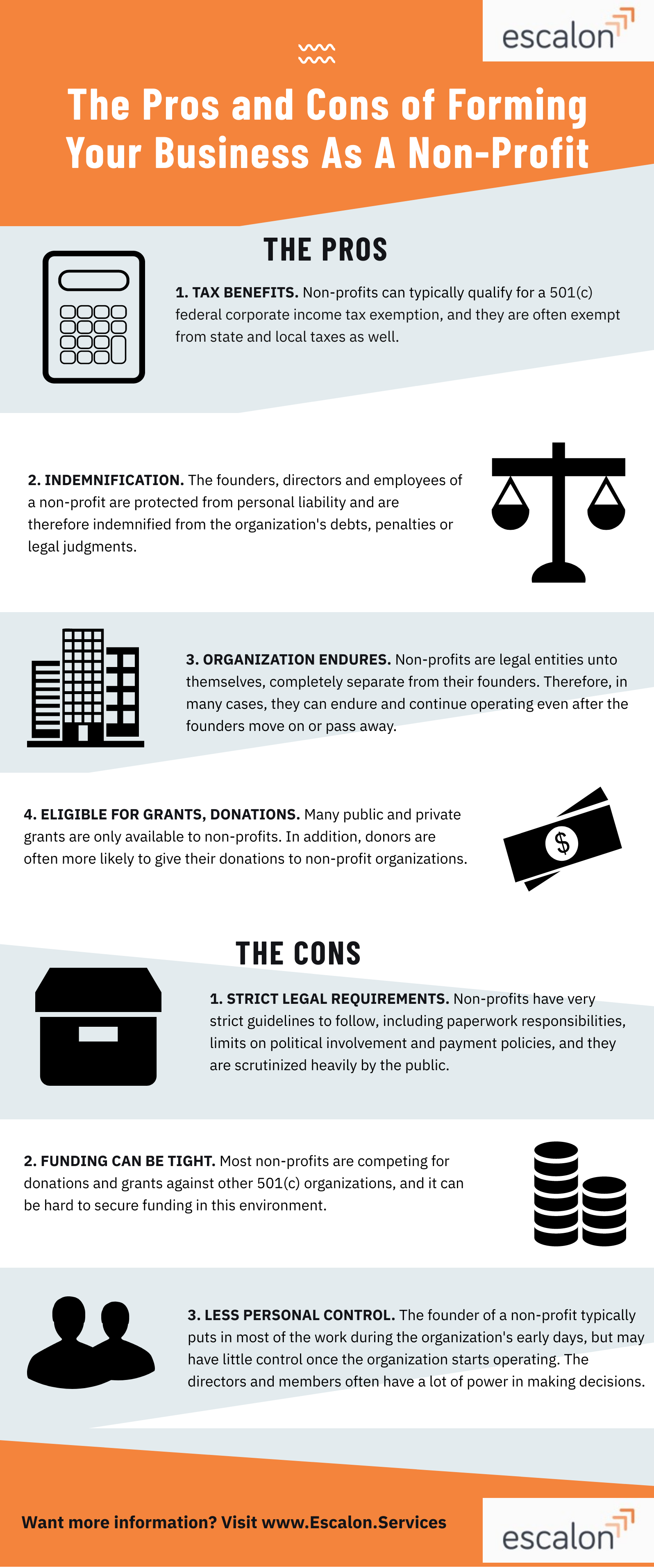 Pros and cons of forming a nonprofit